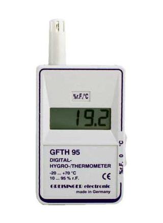 KVGFTH95 digitális hőmérséklet- és relatív páratartalom-mérő